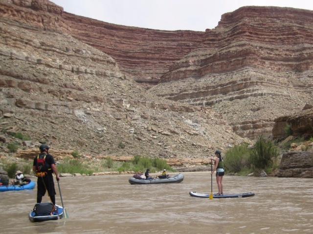 KPOD Paddle Board Emily San Juan Raft Trip